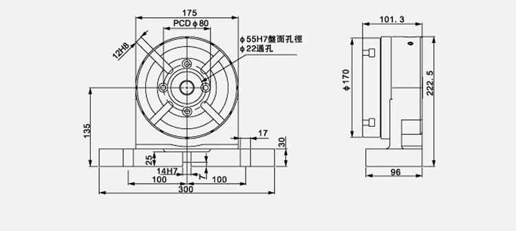 台灣製造數控分度盤