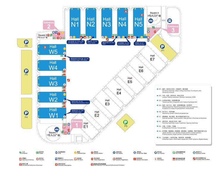 CCMT2020中國數控機床展位圖